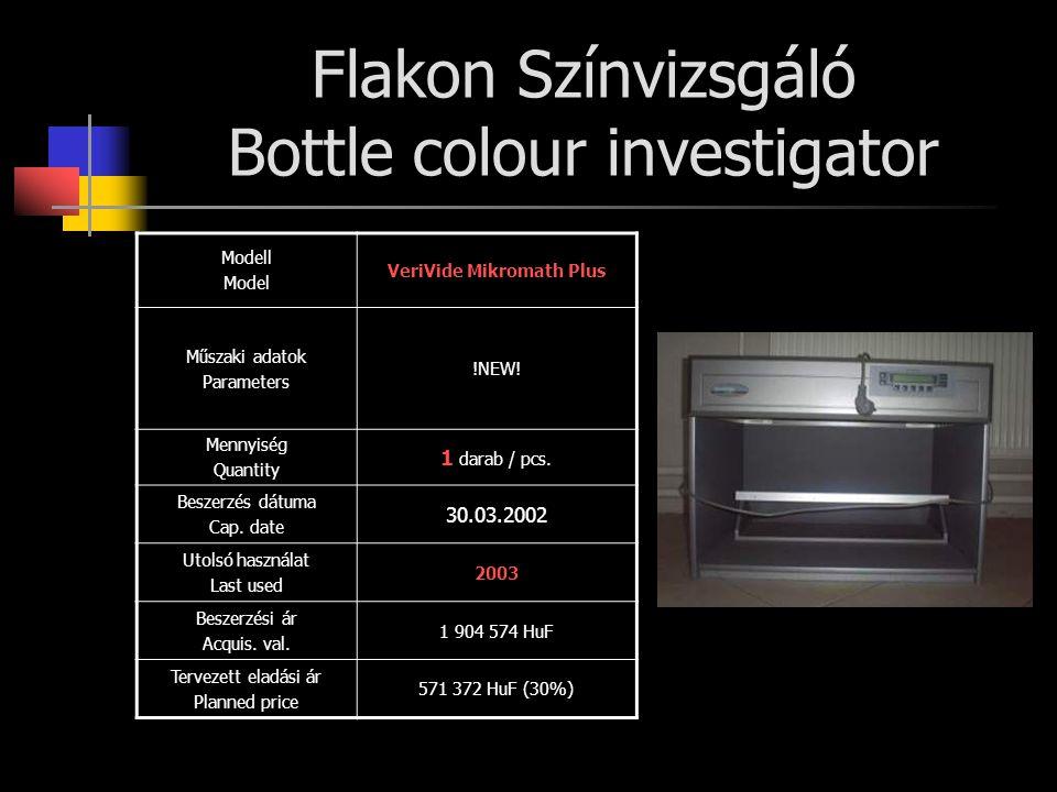 Flakon Színvizsgáló Bottle colour investigator