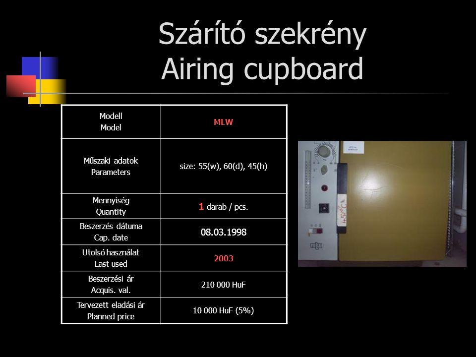 Szárító szekrény Airing cupboard
