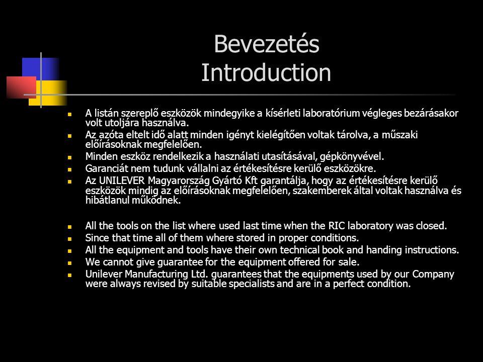 Bevezetés Introduction