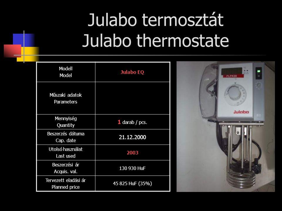 Julabo termosztát Julabo thermostate