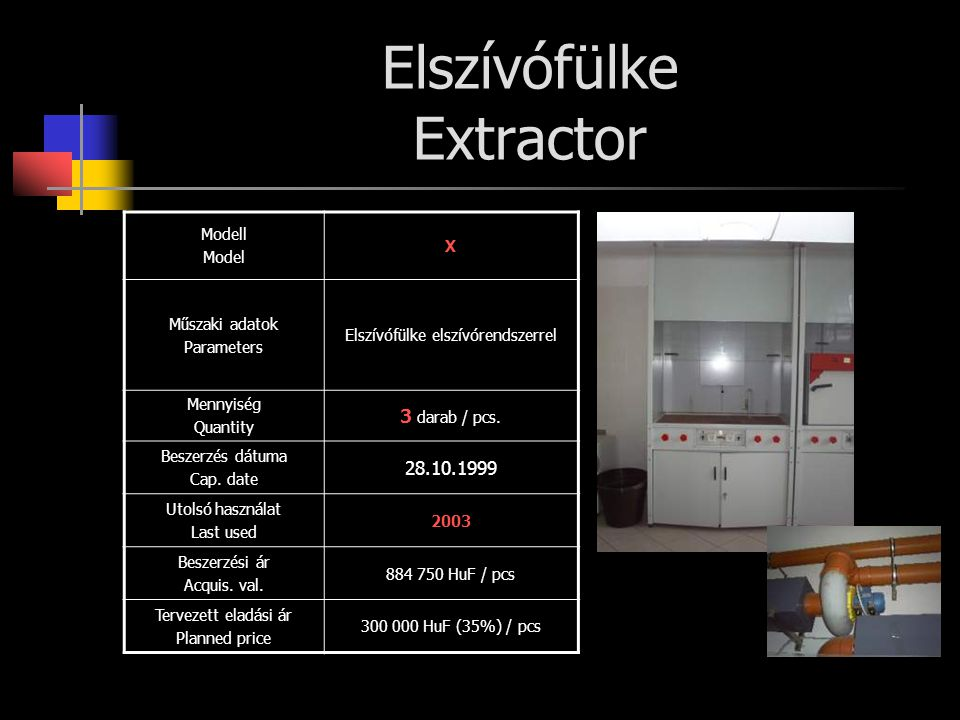 Elszívófülke Extractor