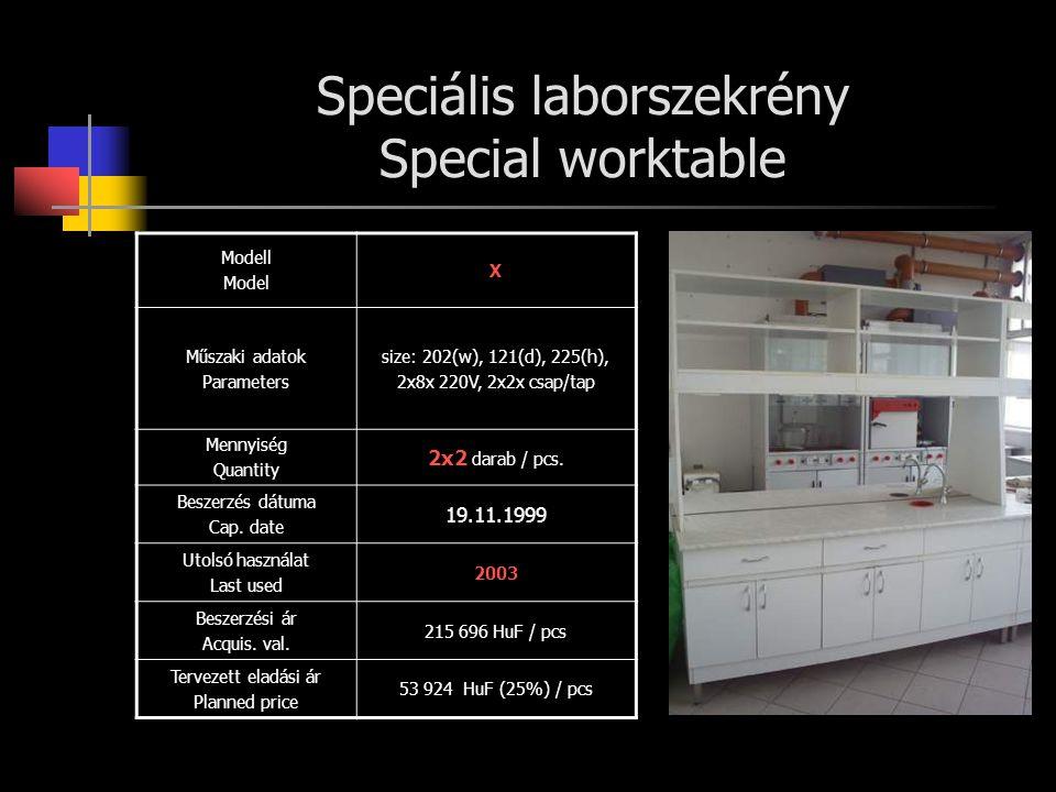 Speciális laborszekrény Special worktable