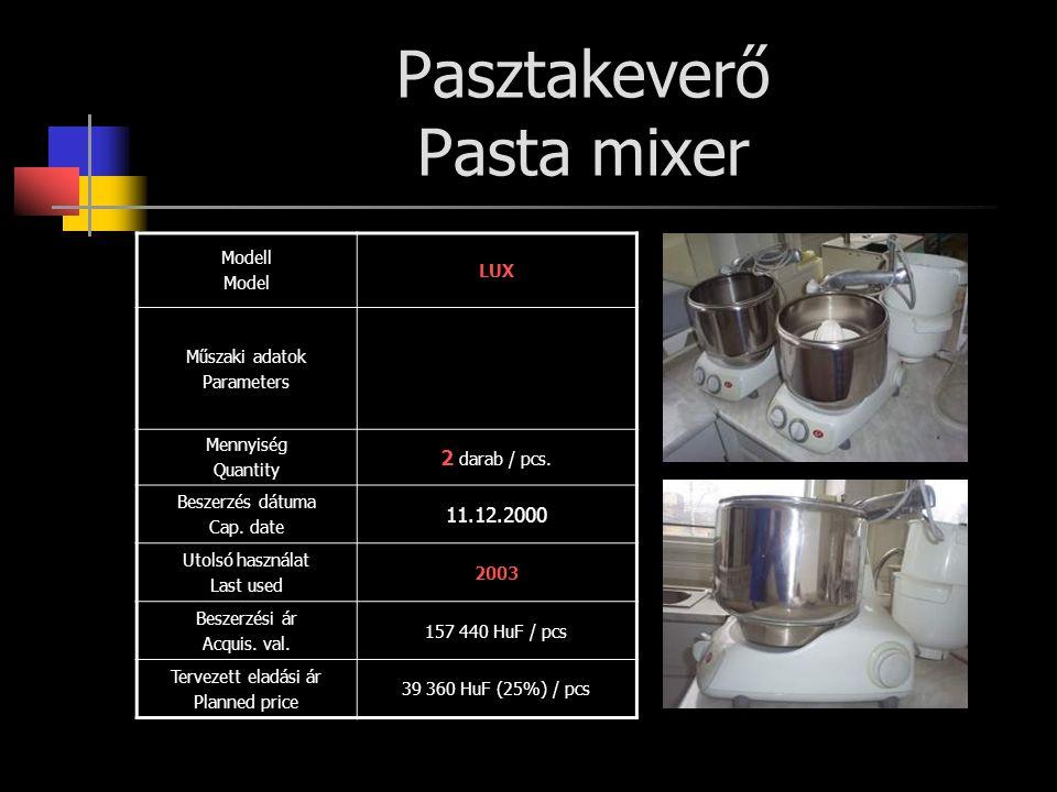 Pasztakeverő Pasta mixer
