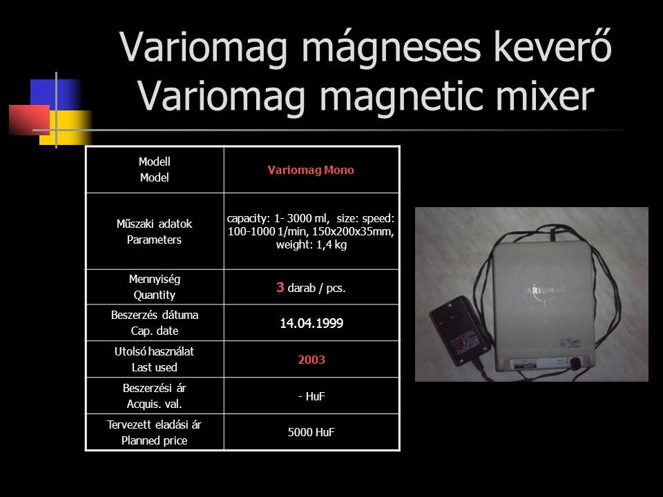 Variomag mágneses keverő Variomag magnetic mixer