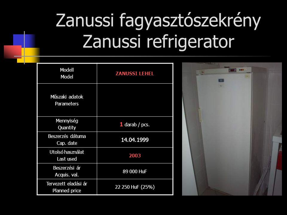 Zanussi fagyasztószekrény Zanussi refrigerator