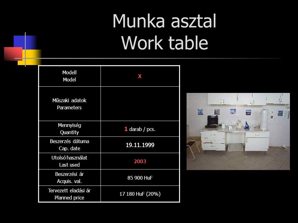 Munka asztal Work table