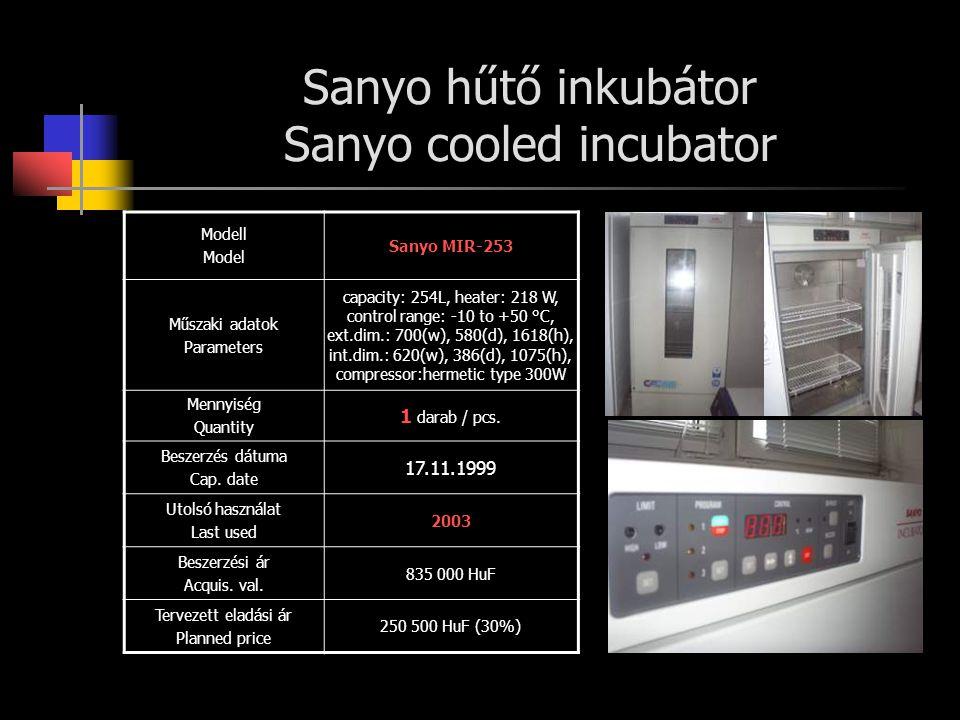 Sanyo hűtő inkubátor Sanyo cooled incubator