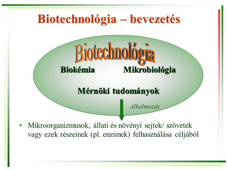 Biotechnológia – bevezetés