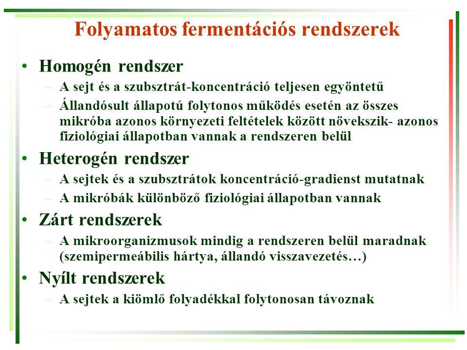 Folyamatos fermentációs rendszerek