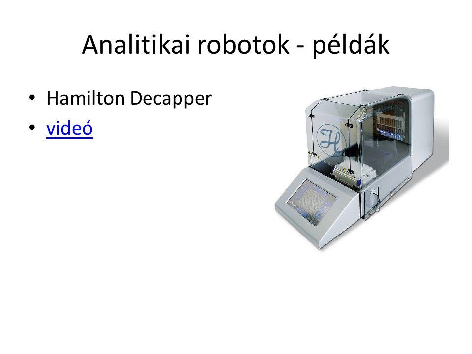 Analitikai robotok - példák