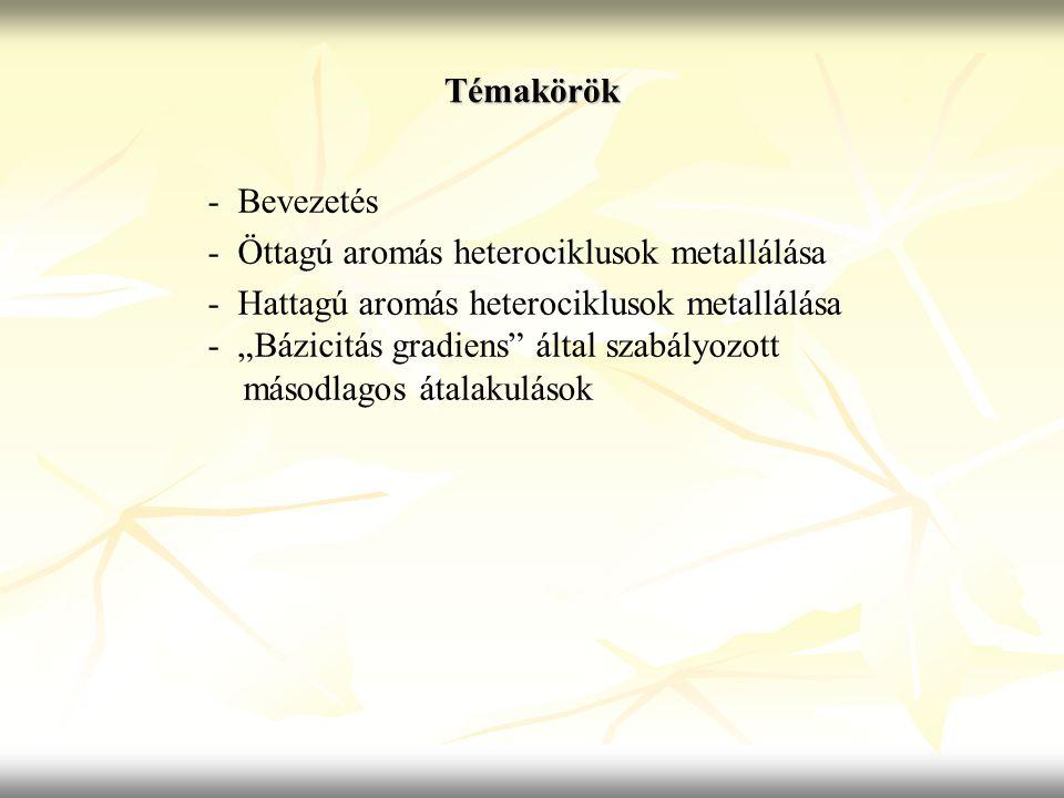 Témakörök - Bevezetés. - Öttagú aromás heterociklusok metallálása. - Hattagú aromás heterociklusok metallálása.