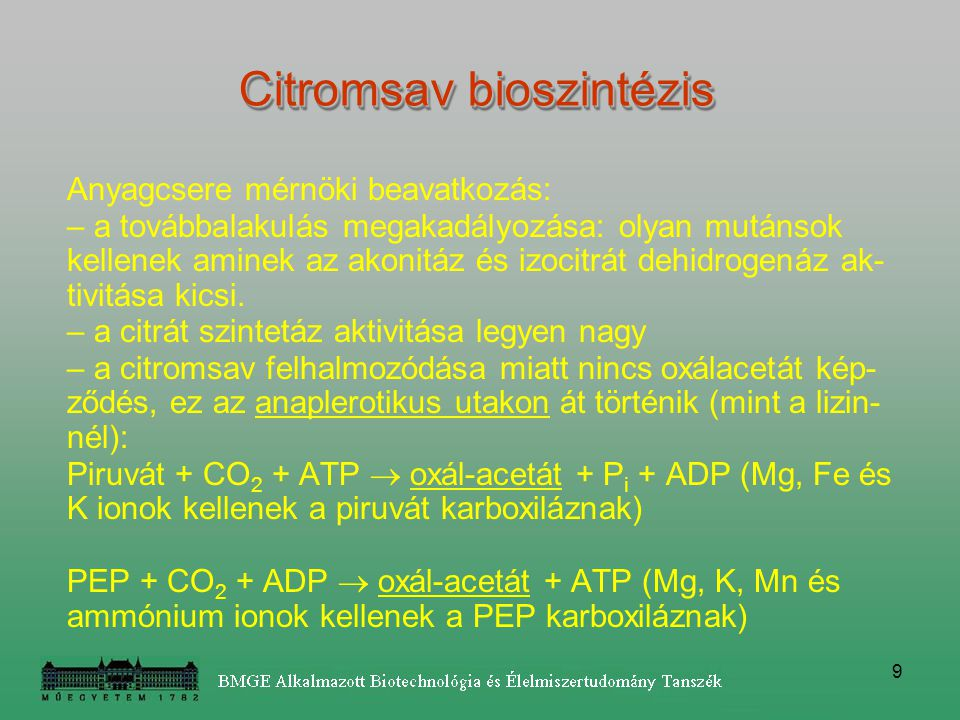 Citromsav bioszintézis