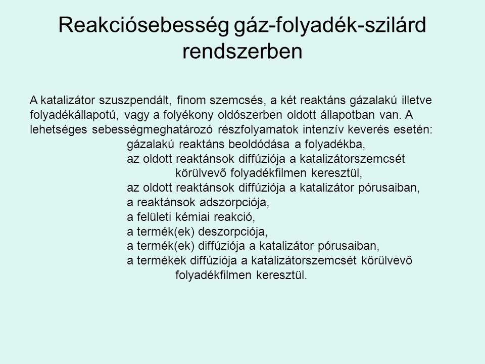 Reakciósebesség gáz-folyadék-szilárd rendszerben