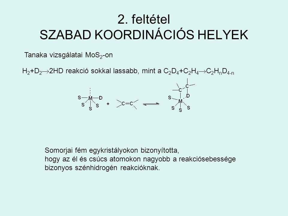 2. feltétel SZABAD KOORDINÁCIÓS HELYEK