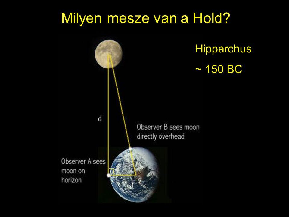 Milyen mesze van a Hold Hipparchus ~ 150 BC