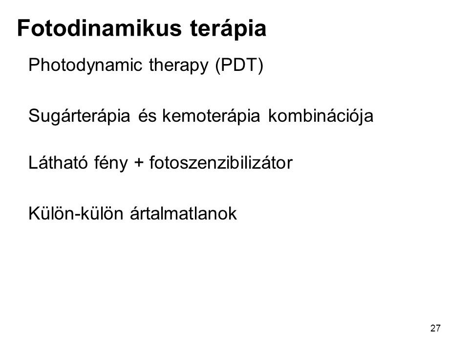 Fotodinamikus terápia