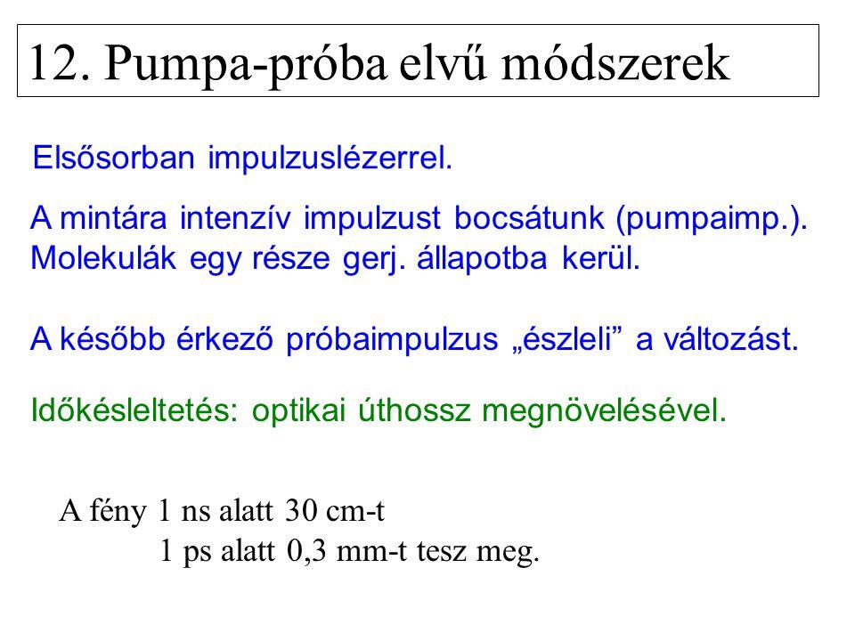 12. Pumpa-próba elvű módszerek