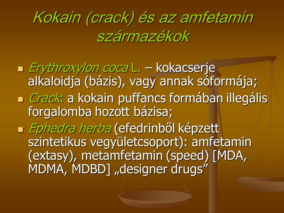 Kokain (crack) és az amfetamin származékok