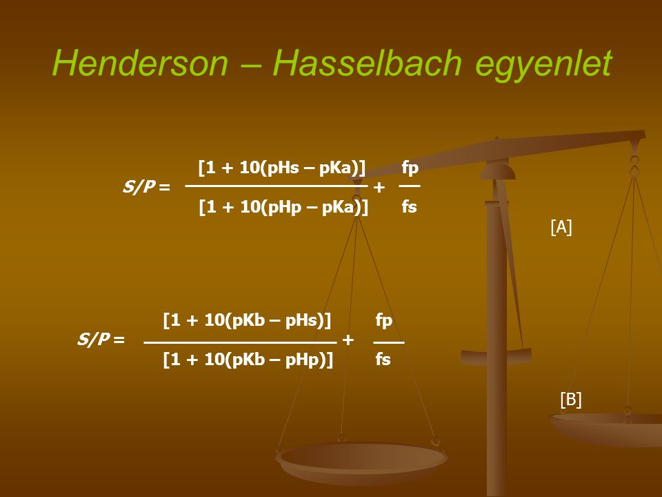Henderson – Hasselbach egyenlet