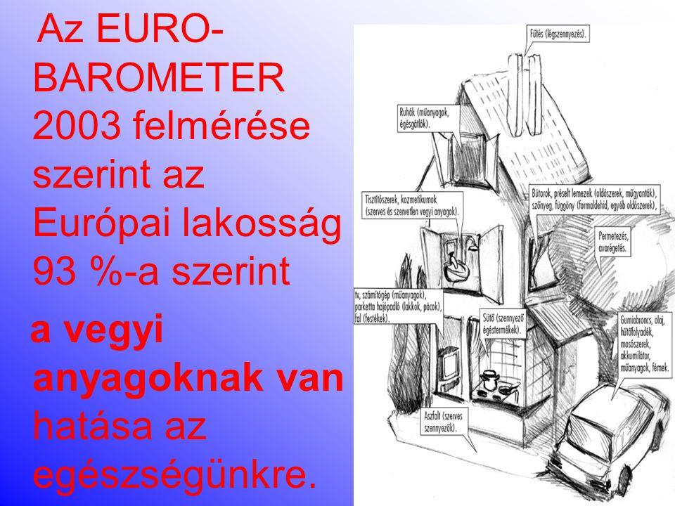 Az EURO-BAROMETER 2003 felmérése szerint az Európai lakosság 93 %-a szerint