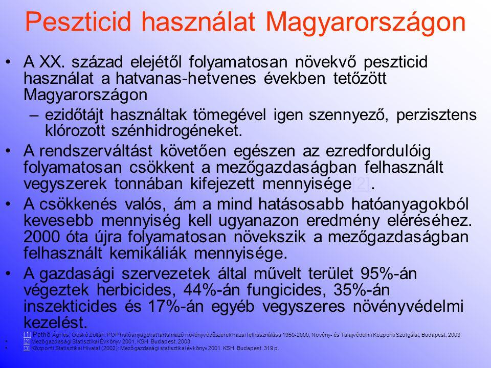 Peszticid használat Magyarországon