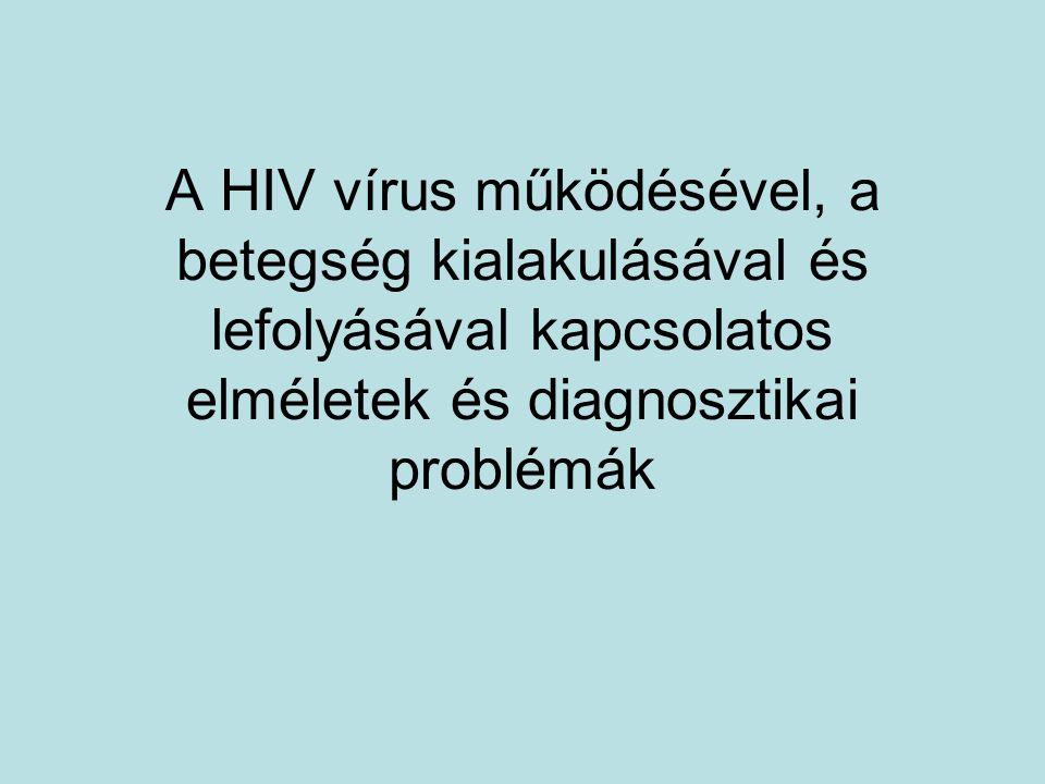 A HIV vírus működésével, a betegség kialakulásával és lefolyásával kapcsolatos elméletek és diagnosztikai problémák