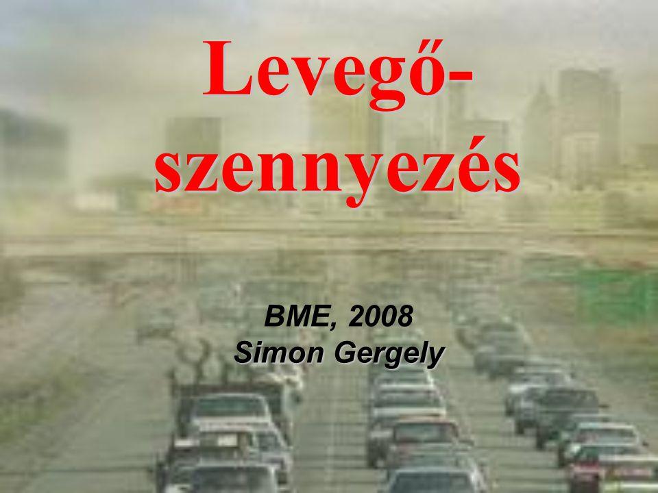 Levegő-szennyezés BME, 2008 Simon Gergely