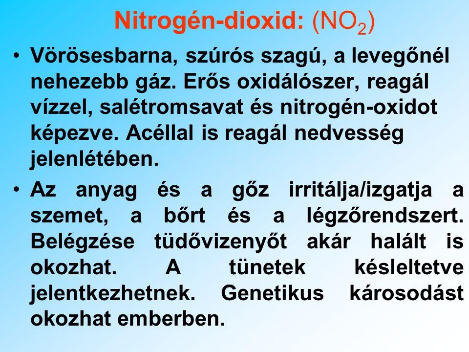 Nitrogén-dioxid: (NO2)