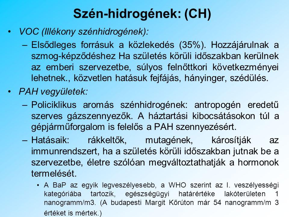 Szén-hidrogének: (CH)