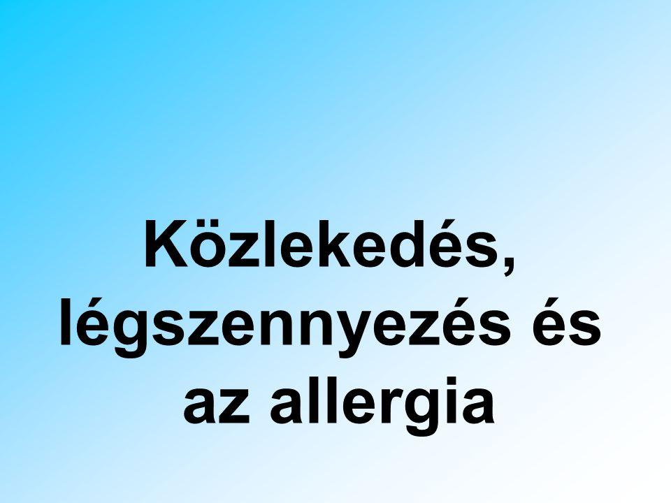 Közlekedés, légszennyezés és az allergia