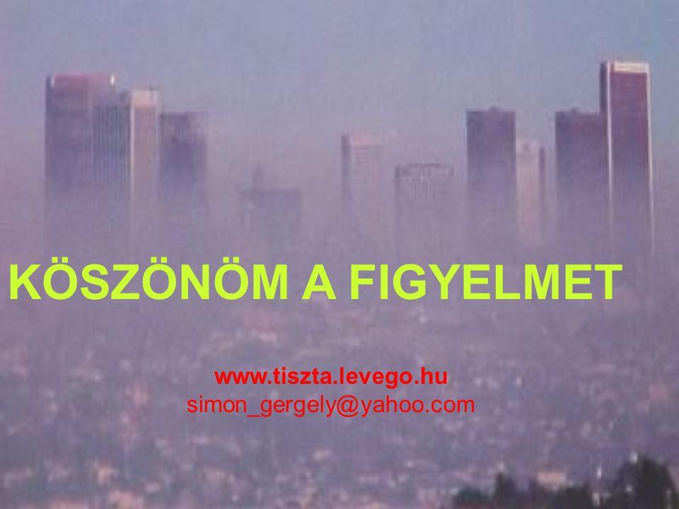 KÖSZÖNÖM A FIGYELMET www.tiszta.levego.hu simon_gergely@yahoo.com