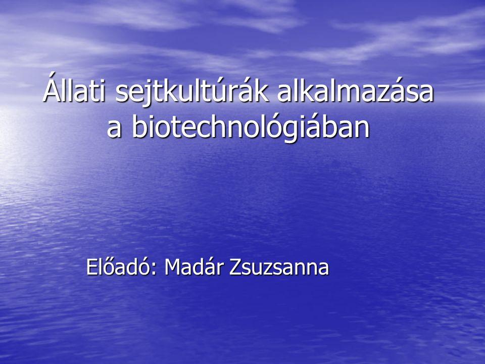 Állati sejtkultúrák alkalmazása a biotechnológiában