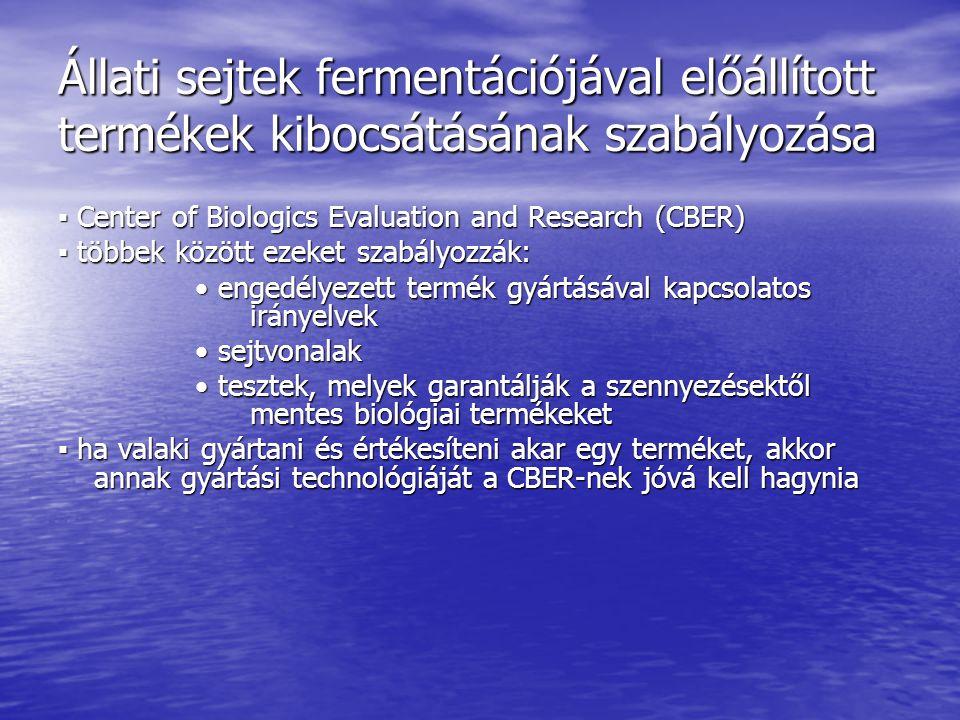 Állati sejtek fermentációjával előállított termékek kibocsátásának szabályozása