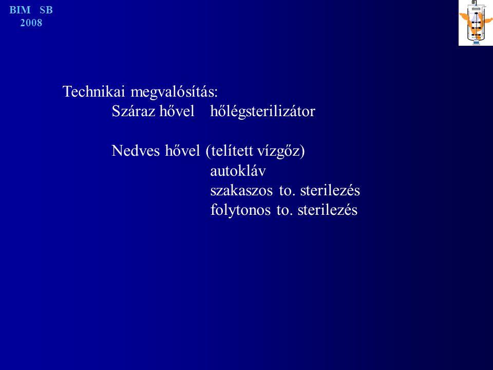 Technikai megvalósítás: Száraz hővel hőlégsterilizátor