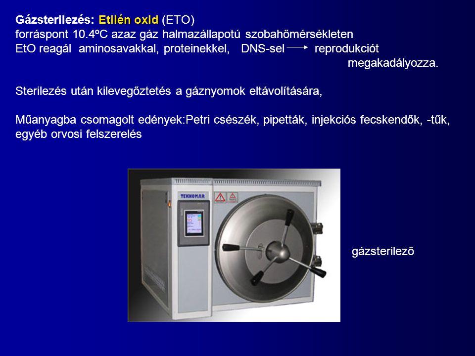 Gázsterilezés: Etilén oxid (ETO)