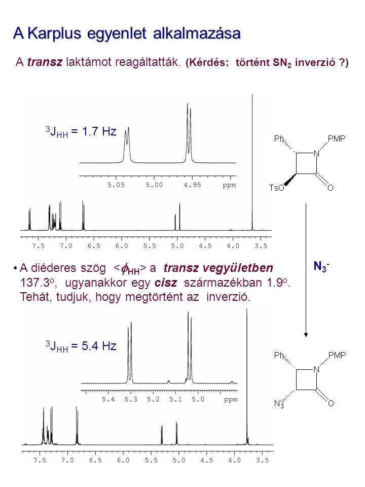 A Karplus egyenlet alkalmazása