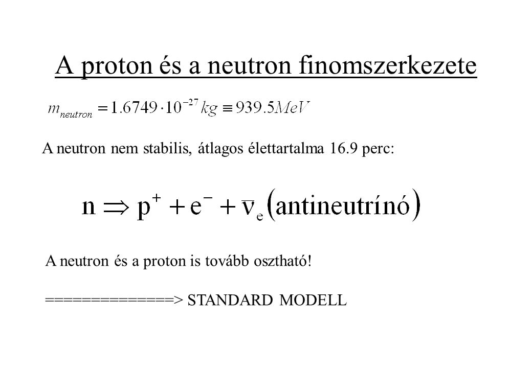 A proton és a neutron finomszerkezete