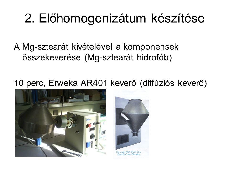 2. Előhomogenizátum készítése