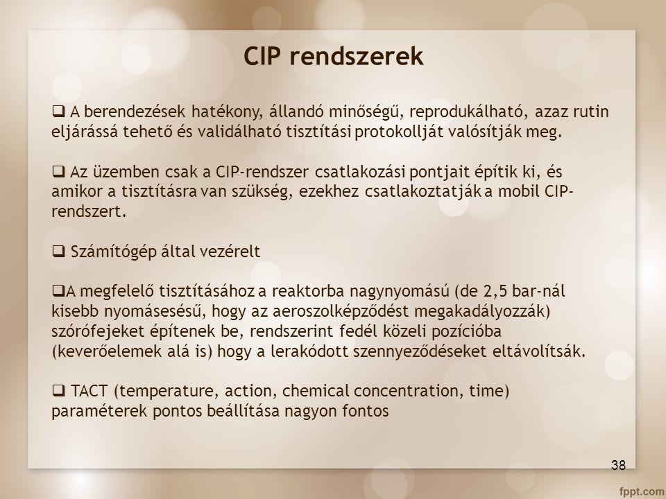 CIP rendszerek