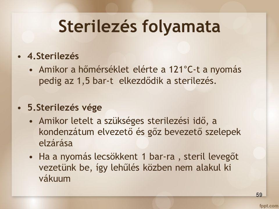 Sterilezés folyamata 4.Sterilezés