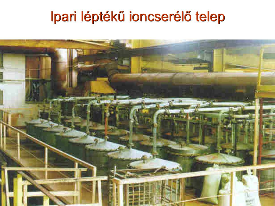 Ipari léptékű ioncserélő telep