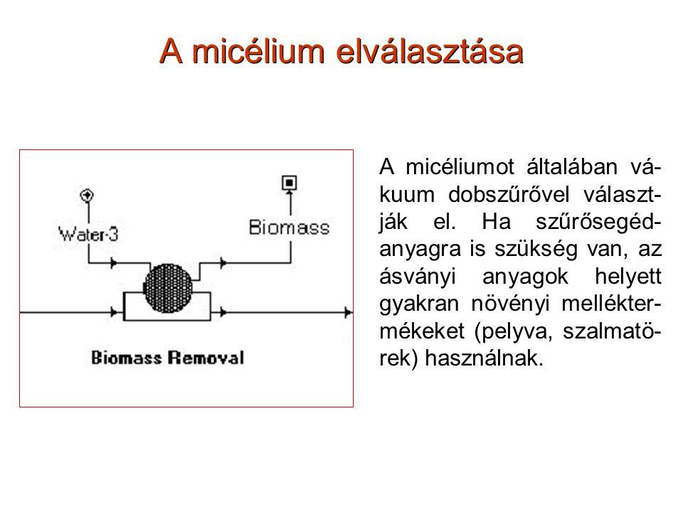 A micélium elválasztása