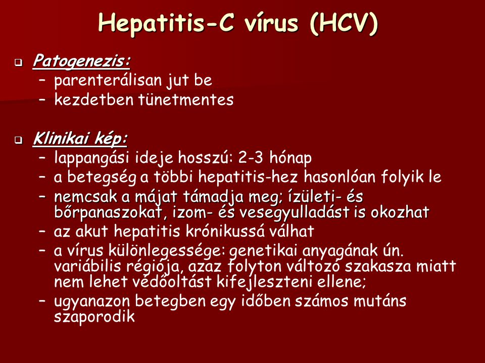 Hepatitis-C vírus (HCV)