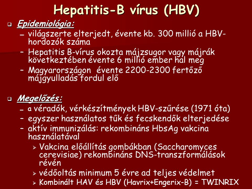Hepatitis-B vírus (HBV)