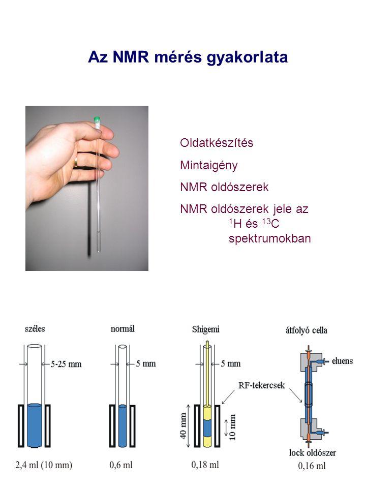Az NMR mérés gyakorlata