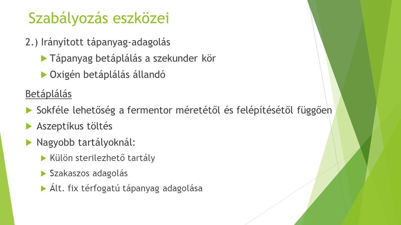 Szabályozás eszközei 2.) Irányított tápanyag-adagolás
