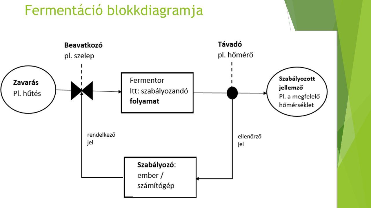 Fermentáció blokkdiagramja