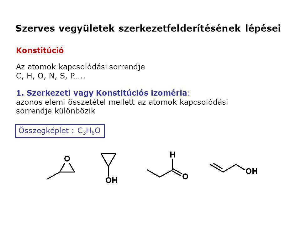 Szerves vegyületek szerkezetfelderítésének lépései