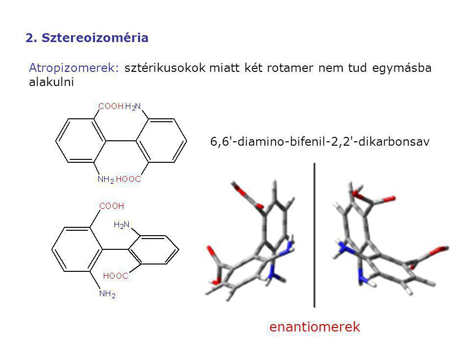enantiomerek 2. Sztereoizoméria