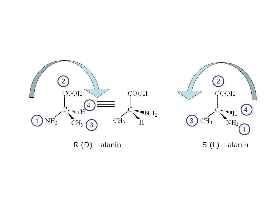2 2 4 4 H 1 NH2 3 CH3 3 1 R (D) - alanin S (L) - alanin